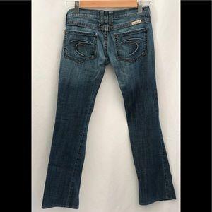 Frankie B Embroidered Pocket Straight Leg Jeans 2